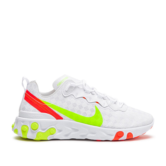 baskets Nike React Element 55 Blanches Homme