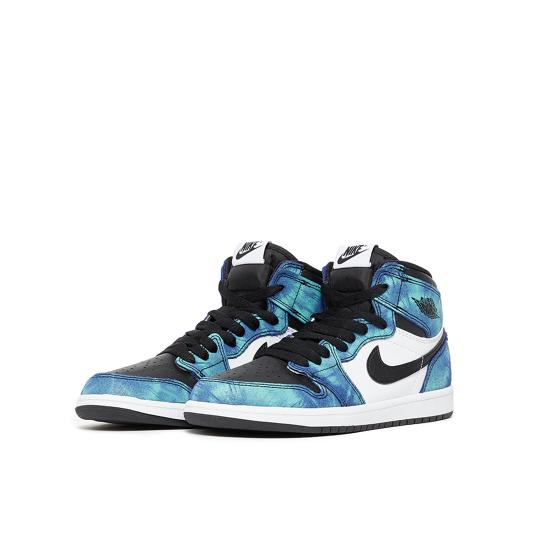 baskets Nike Air Jordan 1 Blanches Enfant