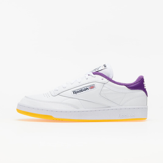 baskets Reebok Club C 85 Blanches Homme FY3411